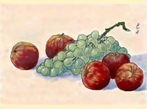 リンゴとブドウ